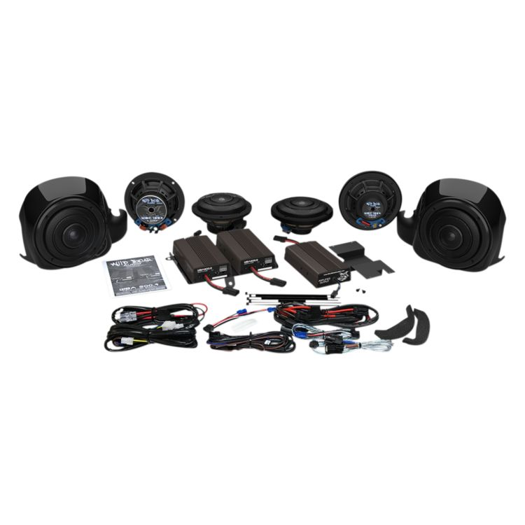 Wild Boar By Hogtunes Whole Hog Speakers & 900 Watt Amp Kit For Harley Touring 2014-2019