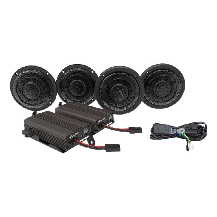 Wild Boar By Hogtunes Front & Rear Speakers & 600 Watt Amp Kit For Harley Touring 2014-2019