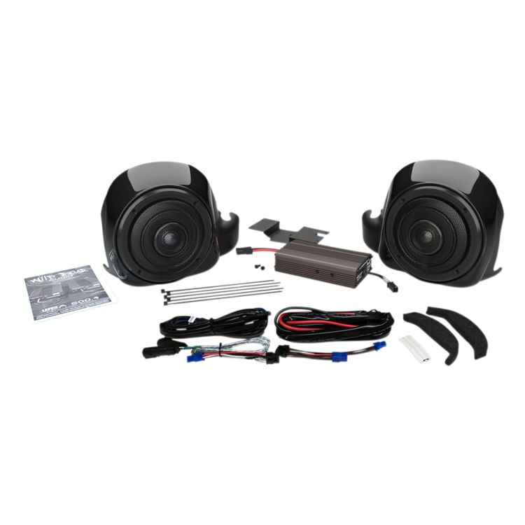 Wild Boar By Hogtunes Liquid Cooled Lower Speakers & 300 Watt Amp Kit For Harley Ultra 2014-2019