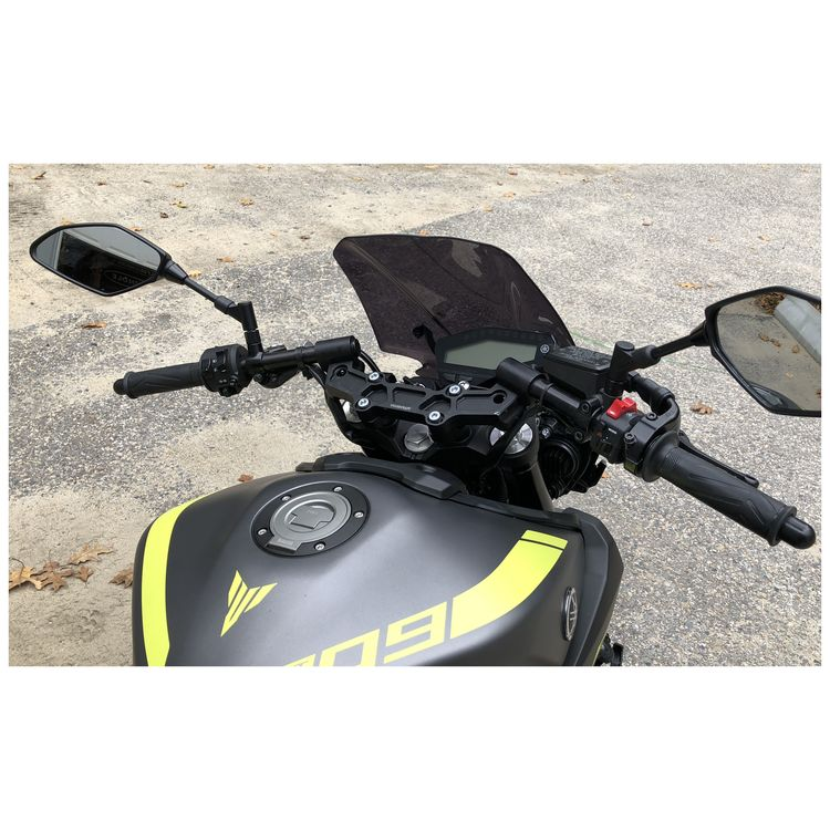 Woodcraft Clip-On Risers w/ Adapter Plate Yamaha FZ-09 / MT-09 2017-2019