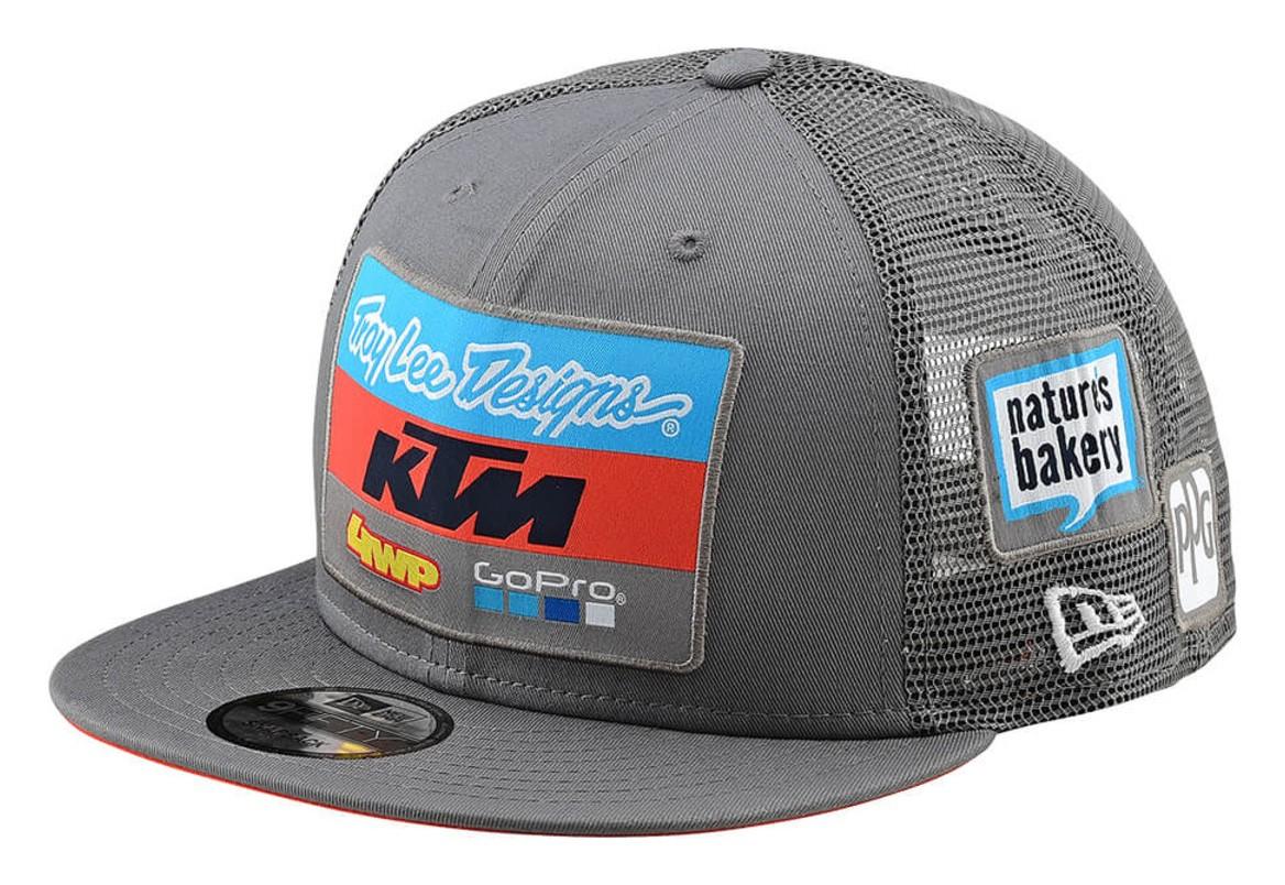 Troy Lee KTM Team Snapback Hat - Cycle Gear 04cf0dceb356