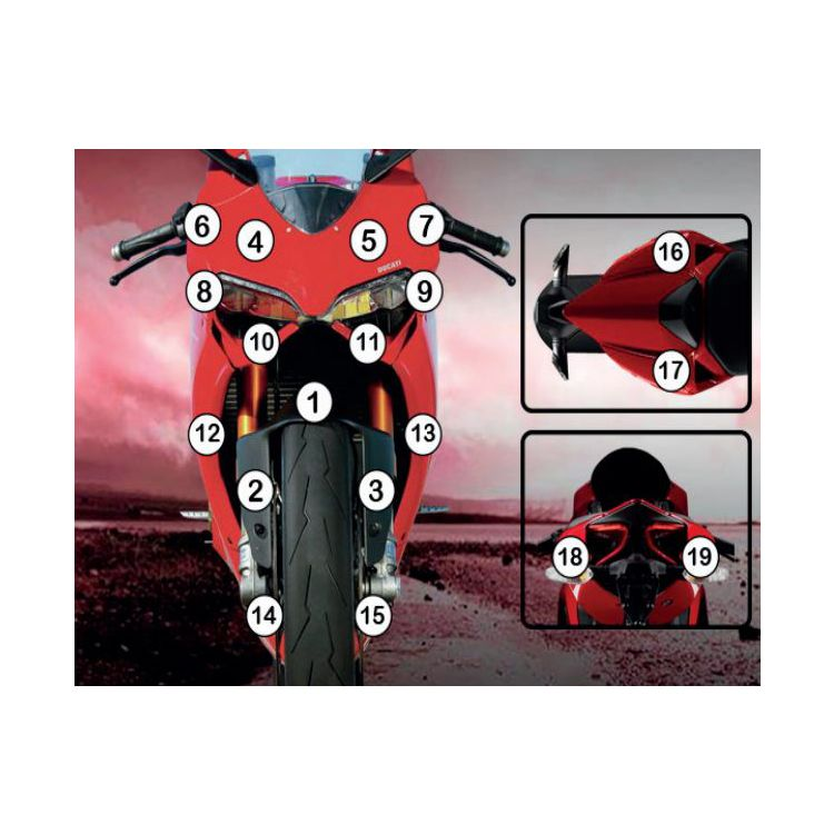 R&G Racing Second Skin Polyurethane Protective Film Ducati 1199 Panigale / S / R 2012-2014