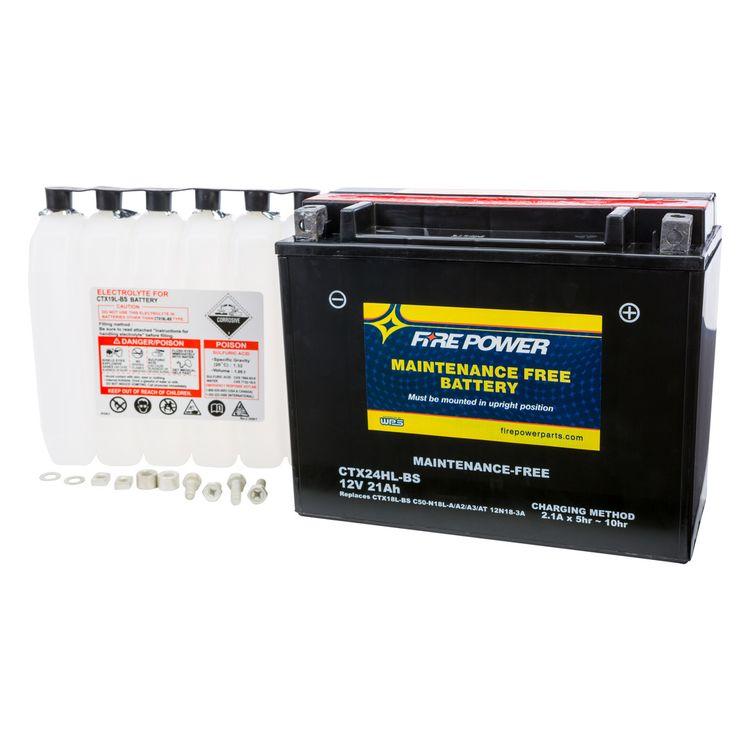Fire Power Maintenance Free Battery CTX24HL-BS