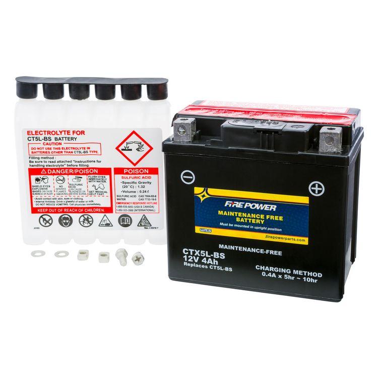 Fire Power High Performance Maintenance Free AGM Battery CTX5L-BS