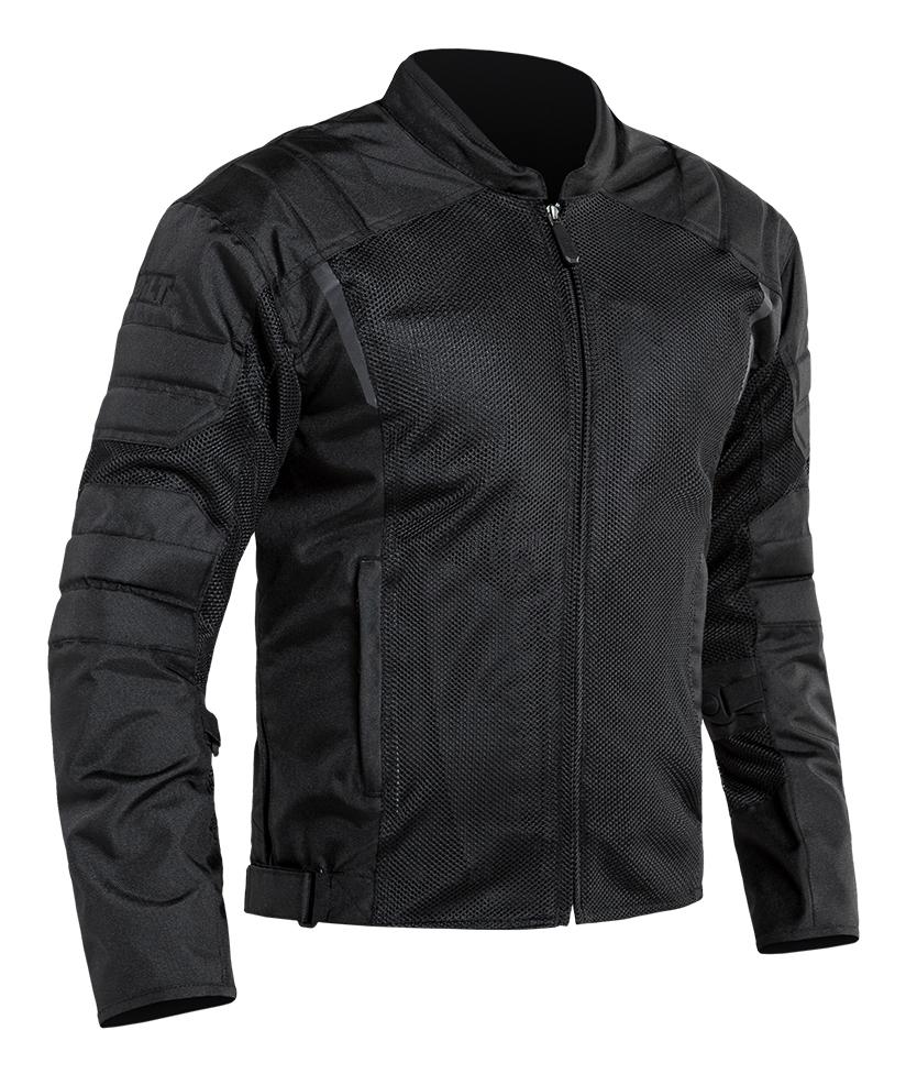 Black//Grey BILT Womens Techno Mesh Motorcycle Jacket SM