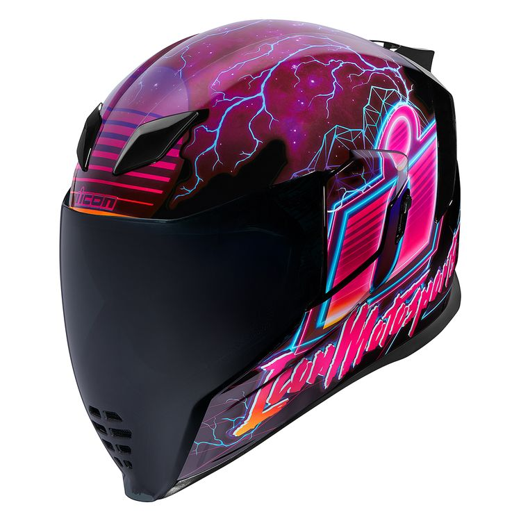 Full Face Cruiser Helmets >> Icon Airflite Synthwave Helmet - Cycle Gear