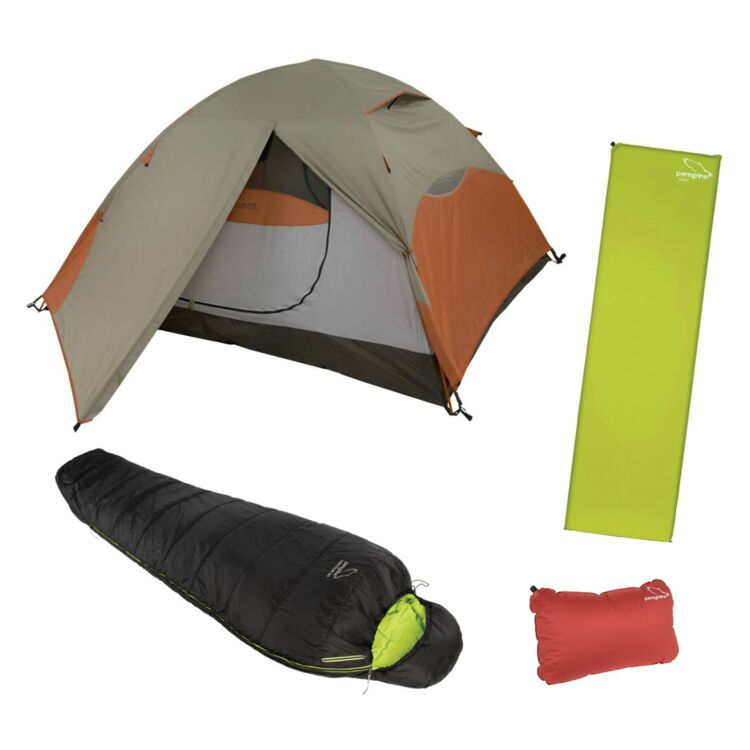 Happy Medium Camping Kit: Tent / Sleeping Bag / Pad / Pillow