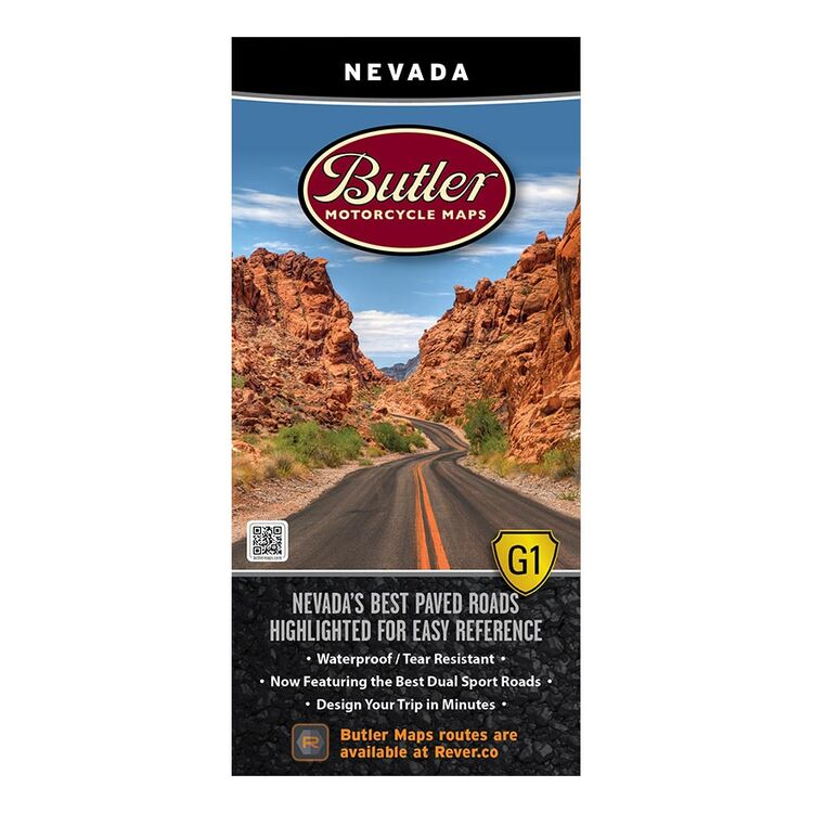 Butler Maps Nevada G1 Roads Map