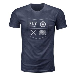 Clay Heather Large Fly Racing K121 T-Shirt