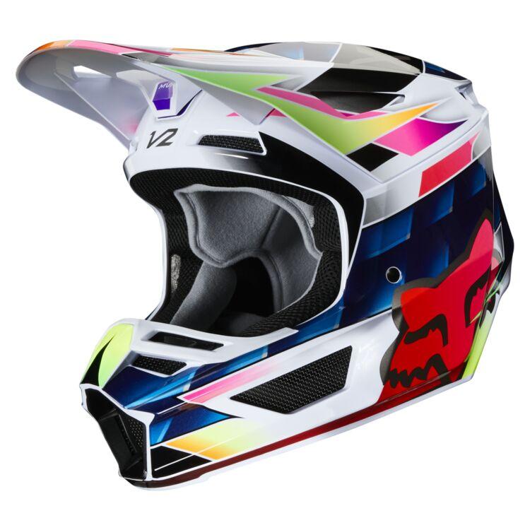Fox Racing Youth V2 Kresa Helmet (Youth SM)