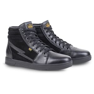 Black Reinforced Toe Heel Boxes Support Size 8 Crush Resistant Sole Highway 21 Axle Street Motorcycle Riding Shoes with Oil