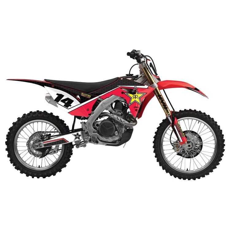 Factory Effex Rockstar Shroud / Airbox Graphics Kit Honda CRF150R / Expert 2007-2022