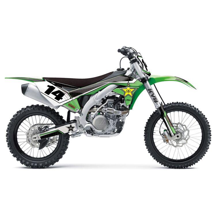 Factory Effex Rockstar Shroud / Airbox Graphics Kit Kawasaki KX85 / KX100 2014-2020