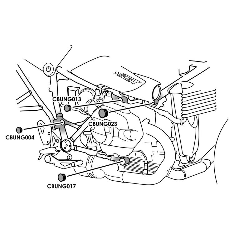 Puig Chassis Plugs BMW R Nine T / Pure / Racer / Urban / Scrambler