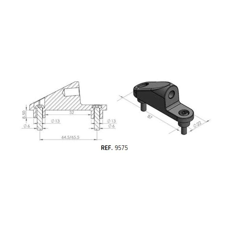 Puig Fairing Mirror Adapter Kawasaki ZX10R 2016-2020