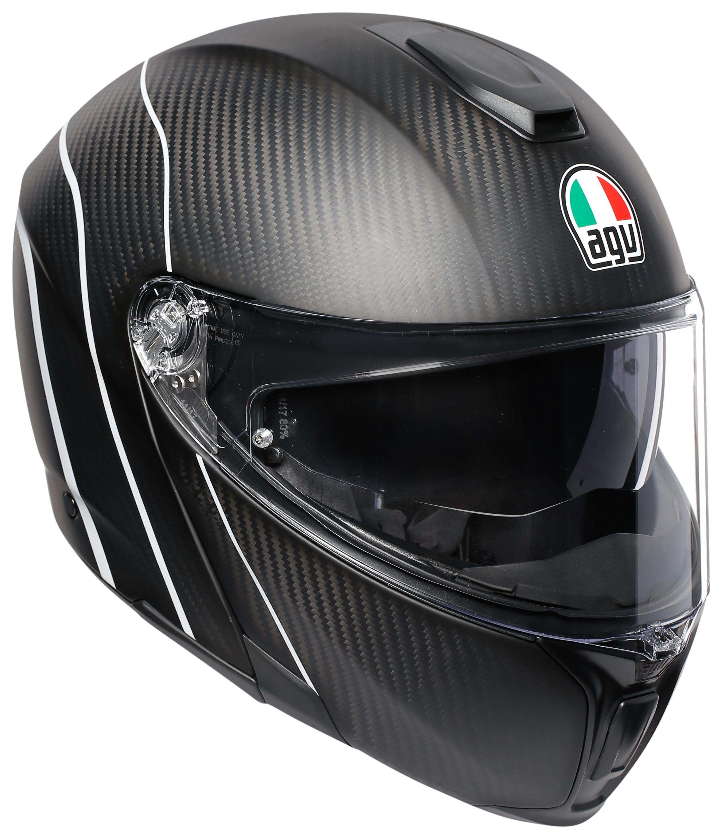 Agv Sportmodular Carbon Refractive Helmet Cycle Gear