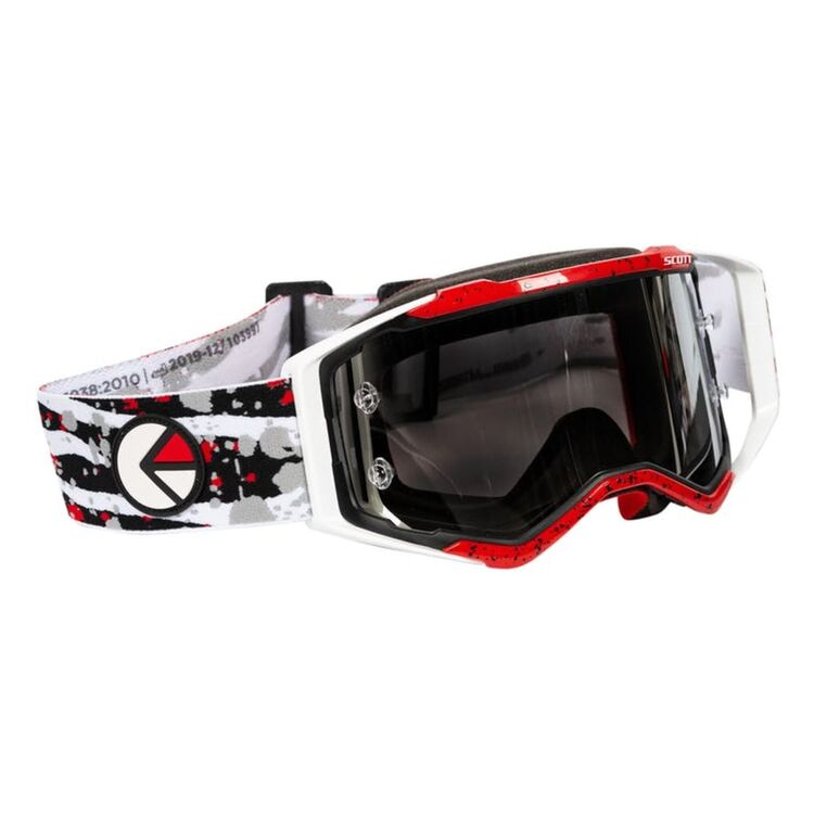 Red/White/Black with Silver Chrome Lens