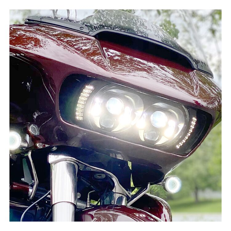 HogWorkz Visionz Led Turn Signal & Drl Vent Inserts For Harley Road Glide 2015-2021