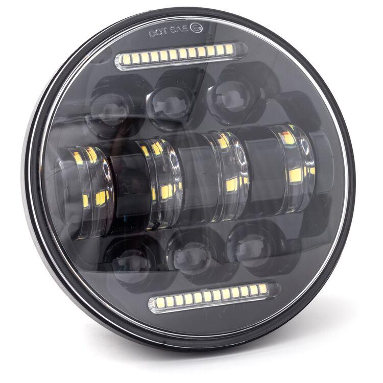 "Letric Lighting Co. 5.75"" LED Diez 10-Led Headlamp W/ Dual Horizontal DRLs For Harley 1988-2021"