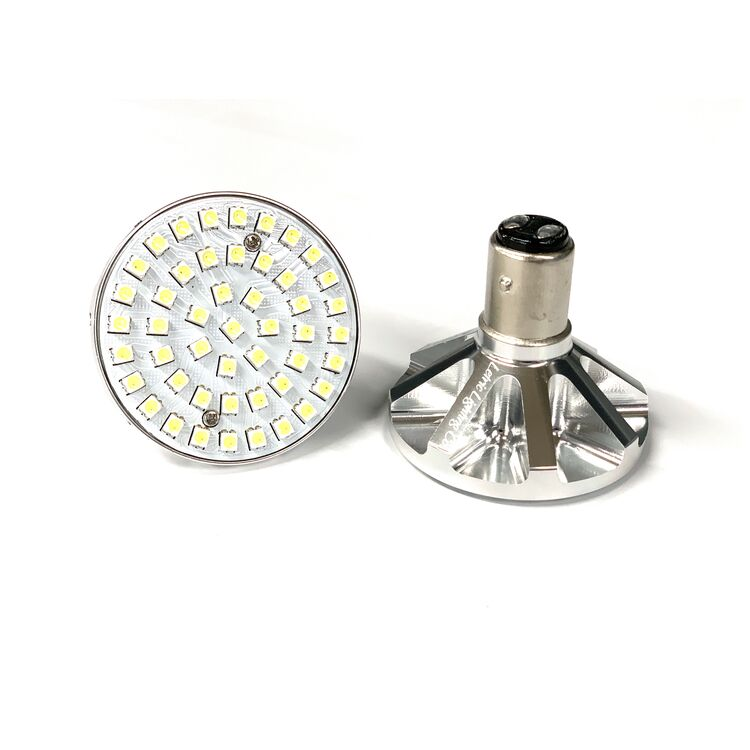 Letric Lighting Co. Premium Bullet Style LED Switchbacks Turn Signal Inserts For Harley w/ 1157 Socket