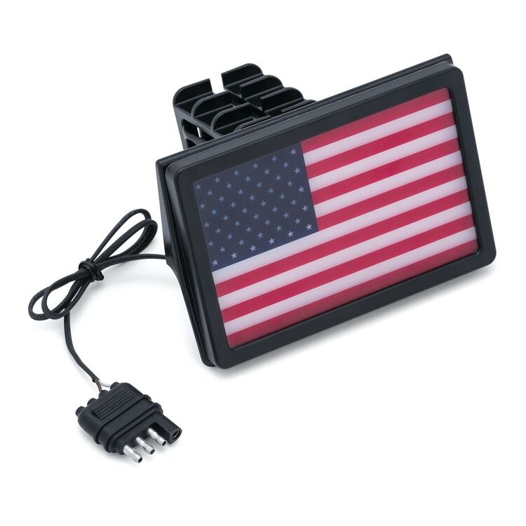 Kuryakyn Freedom Flag LED Receiver Hitch Cover