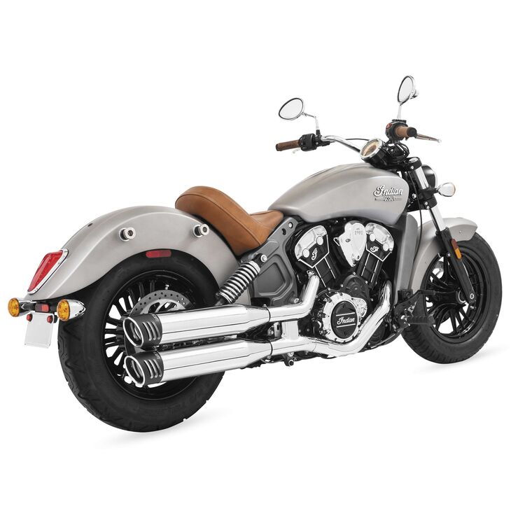 """Freedom Performance 4"""" Slip-On Mufflers For Indian Scout 2015-2021"""