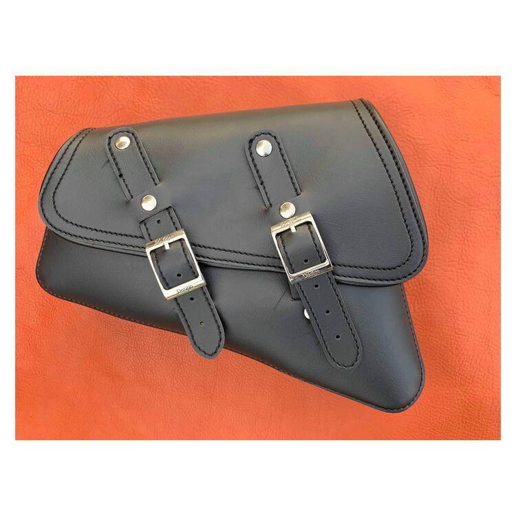 La Rosa Black Vinyl Saddle Bag For Harley Sportster 2004-2021