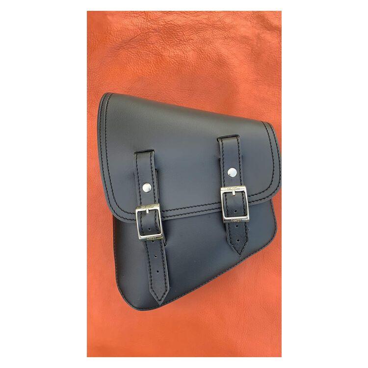La Rosa Black Vinyl Saddle Bag For Harley Softail 1986-2021