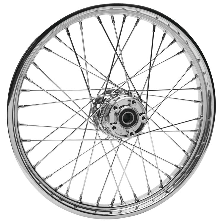 "Biker's Choice 40 Spoke 19"" X 2.5"" Front Wheel For Harley Dyna 2004-2005"
