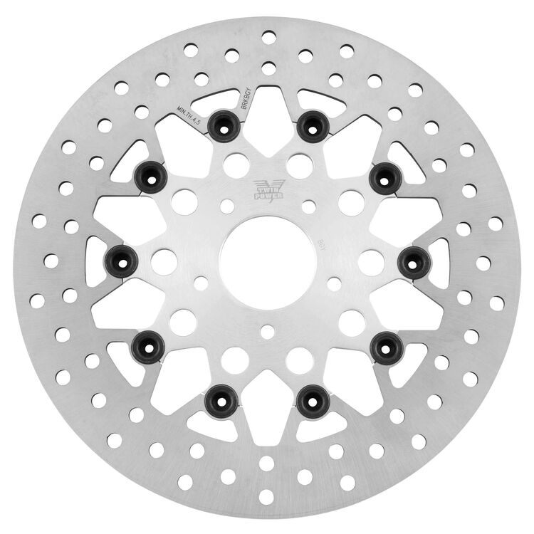 Twin Power Silver Floating Mesh Front Rotor For Harley 1984-2017