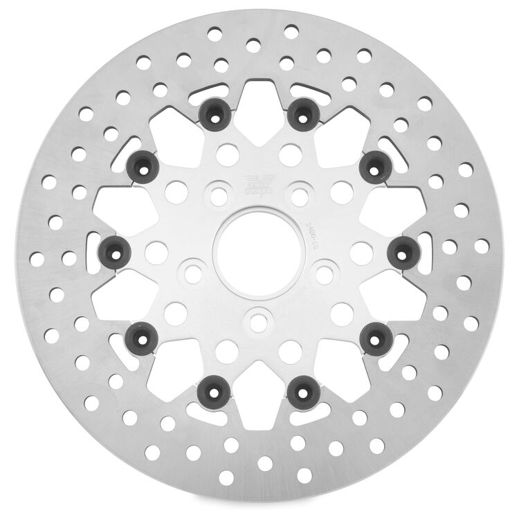 Twin Power Silver Floating Mesh Rear Rotor For Harley 1984-2017