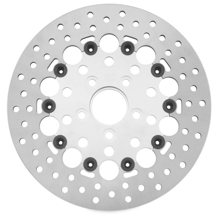 Twin Power Silver Floating Hole Rear Rotor For Harley 1984-2017