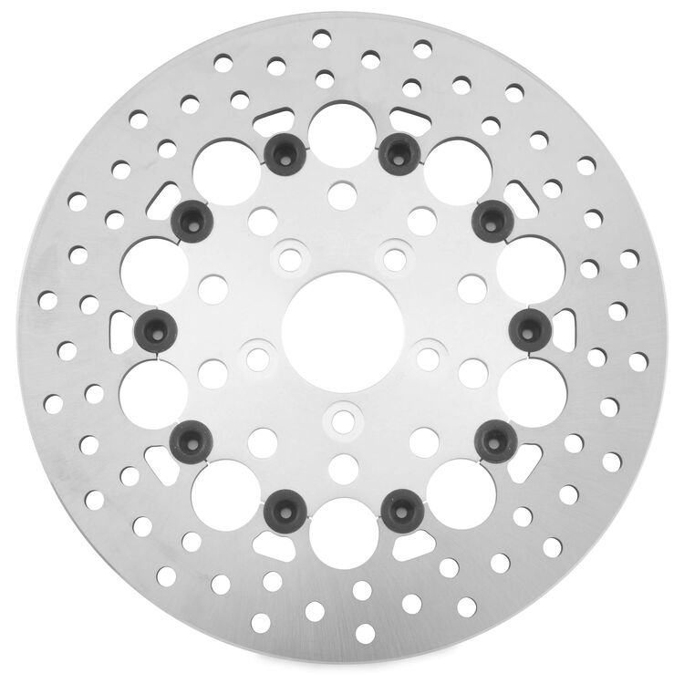 Twin Power Silver Floating Hole Rear Rotor For Harley Touring 2008-2021