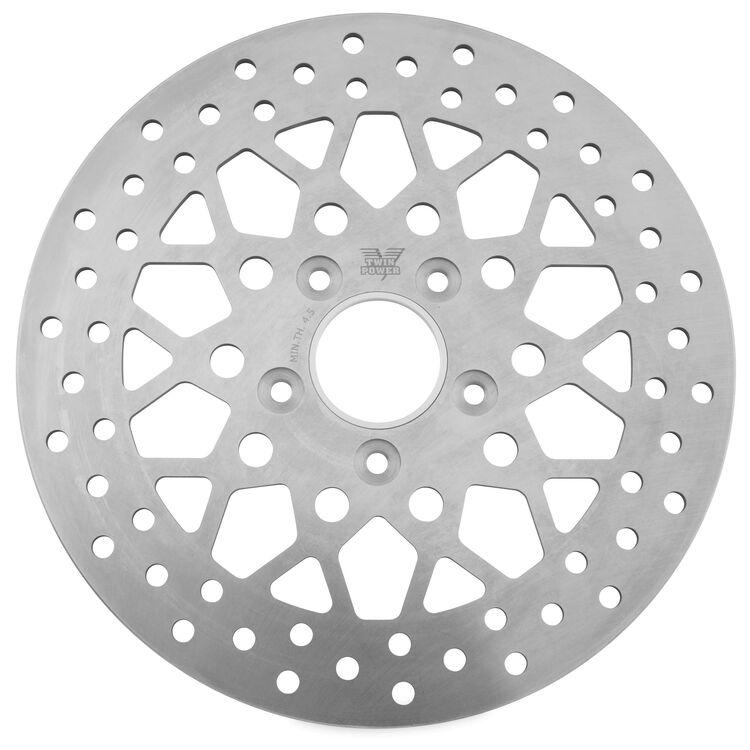 Twin Power Solid Mesh Front Rotor For Harley 1984-2017