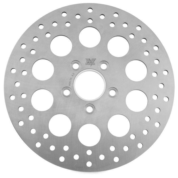 Twin Power Solid Hole Rear Rotor For Harley 1984-2017