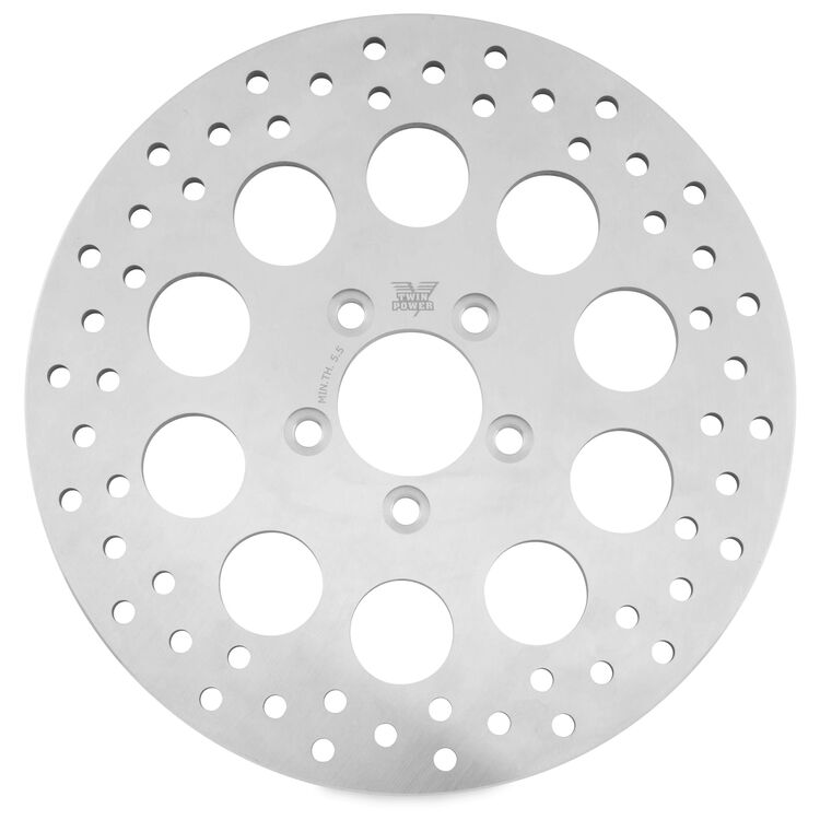 Twin Power Solid Hole Rear Rotor For Harley