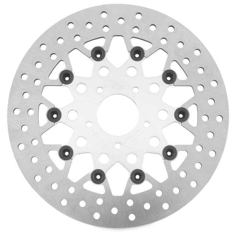Twin Power Silver Floating Mesh Front Rotor For Harley