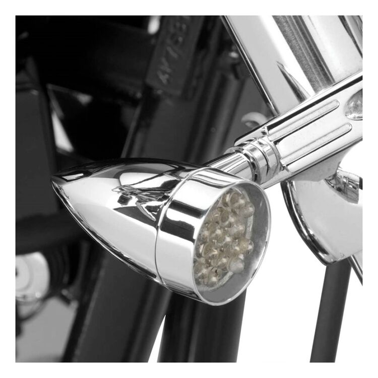 Biker's Choice Mini LED Turn Signals With Fork Mount