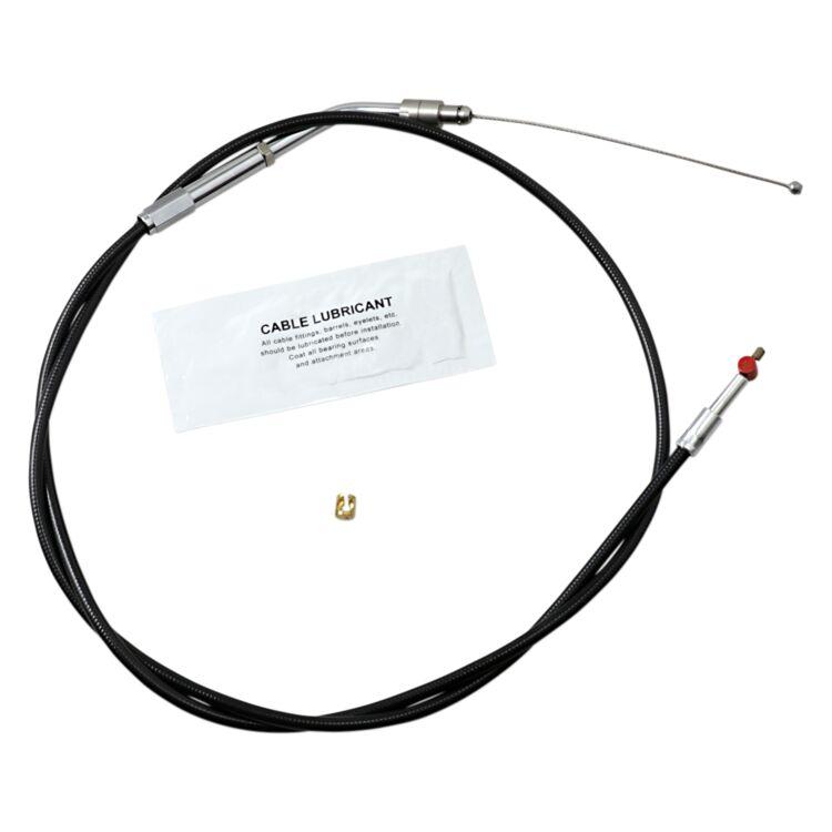 Barnett Black Vinyl Throttle Cable For Harley Sportster 2007-2021