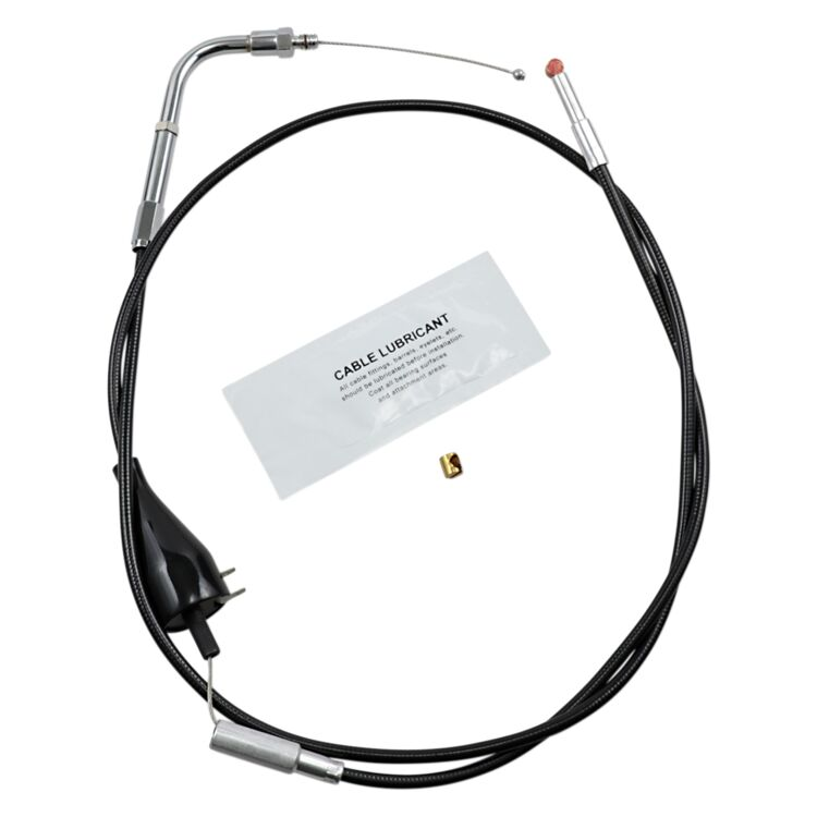 Barnett Black Vinyl Idle Cable For Harley Touring With Cruise 1990-1995