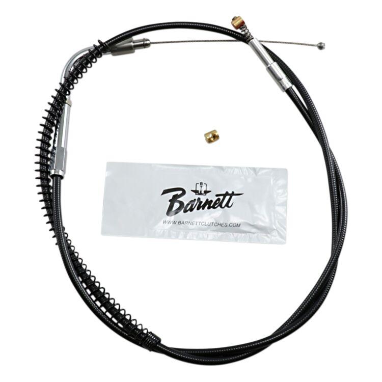 Barnett Black Vinyl Idle Cable For Harley