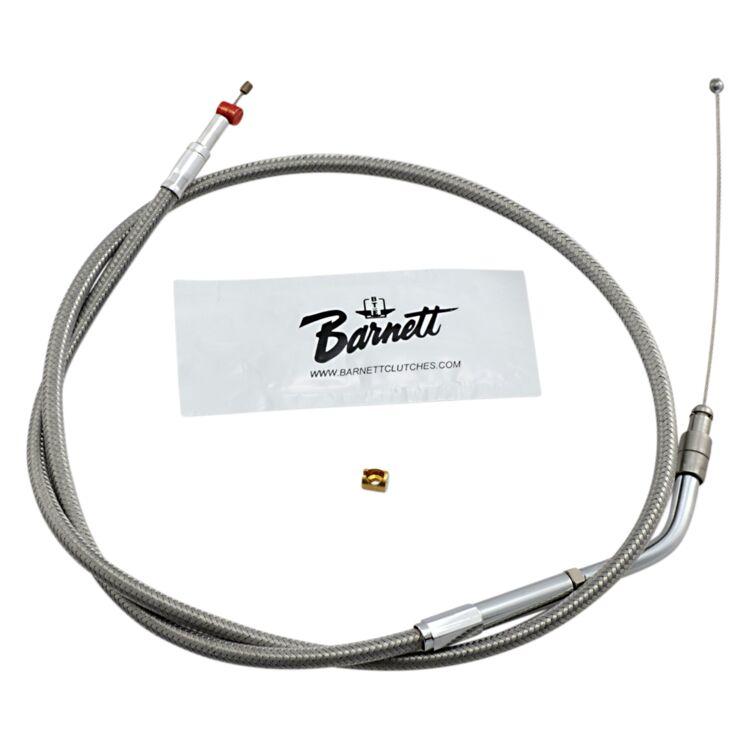 Barnett Stainless Steel Throttle Cable For Harley Sportster 1996-2006