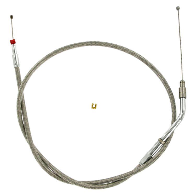 Barnett Stainless Steel Throttle Cable For Harley V-Rod 2002-2017