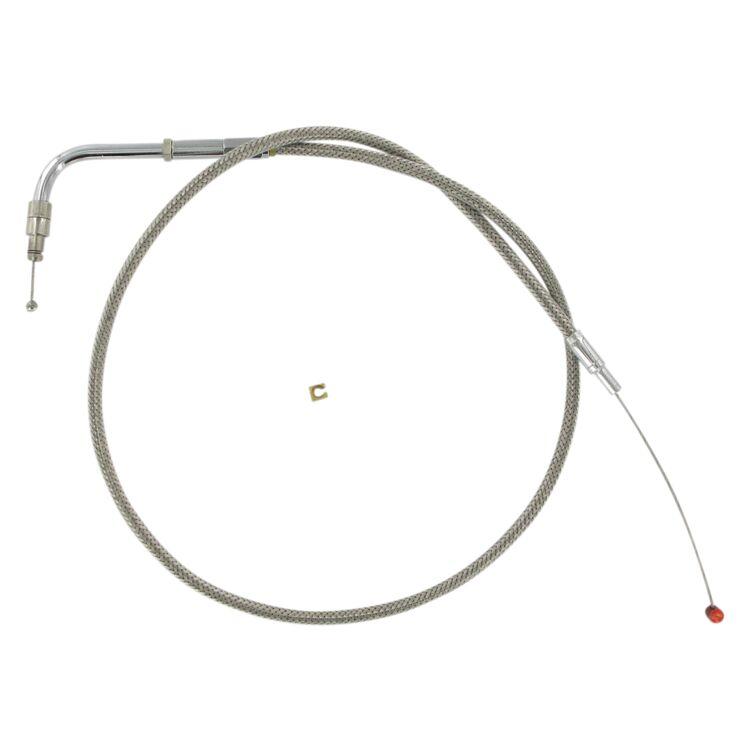 Barnett Stainless Steel Throttle Cable For Harley Softail 1999-2013
