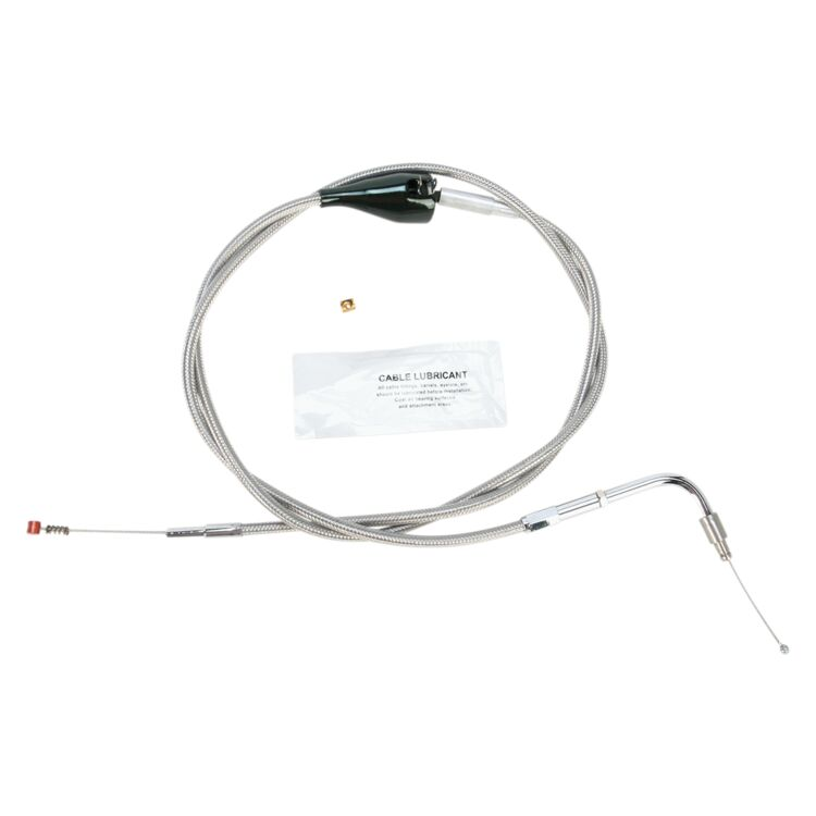 Barnett Stainless Steel Idle Cable For Harley Touring With Cruise 2002-2006