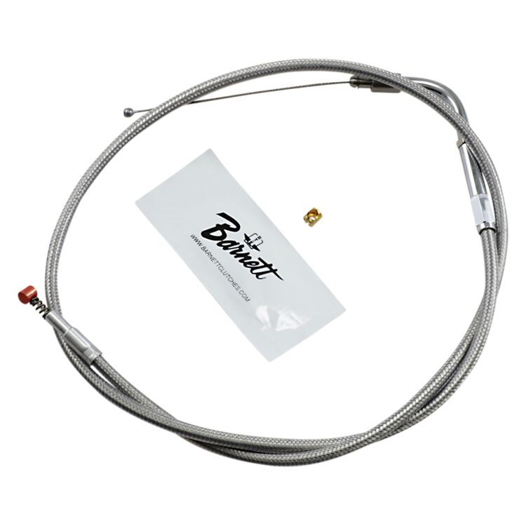 Barnett Stainless Steel Idle Cable For Harley Softail 1996-2000