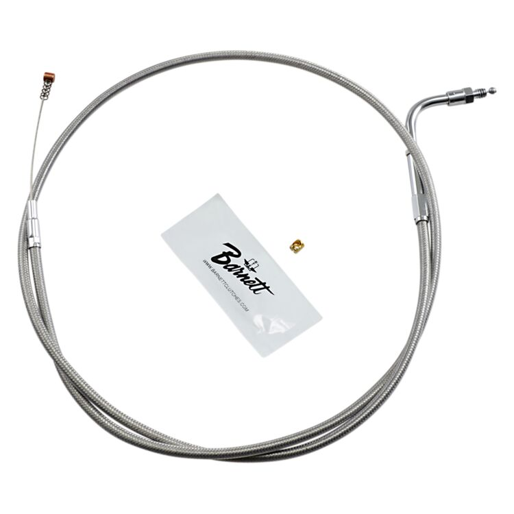 Barnett Stainless Steel Idle Cable For Harley Touring 1984-1989