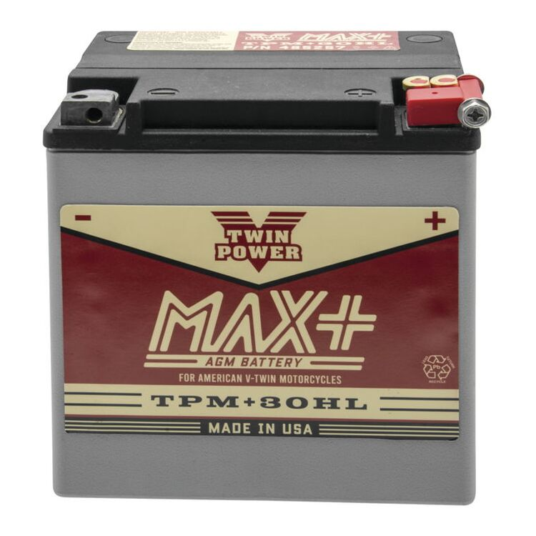 Twin Power Max+ AGM Battery For Harley Touring 1997-2021