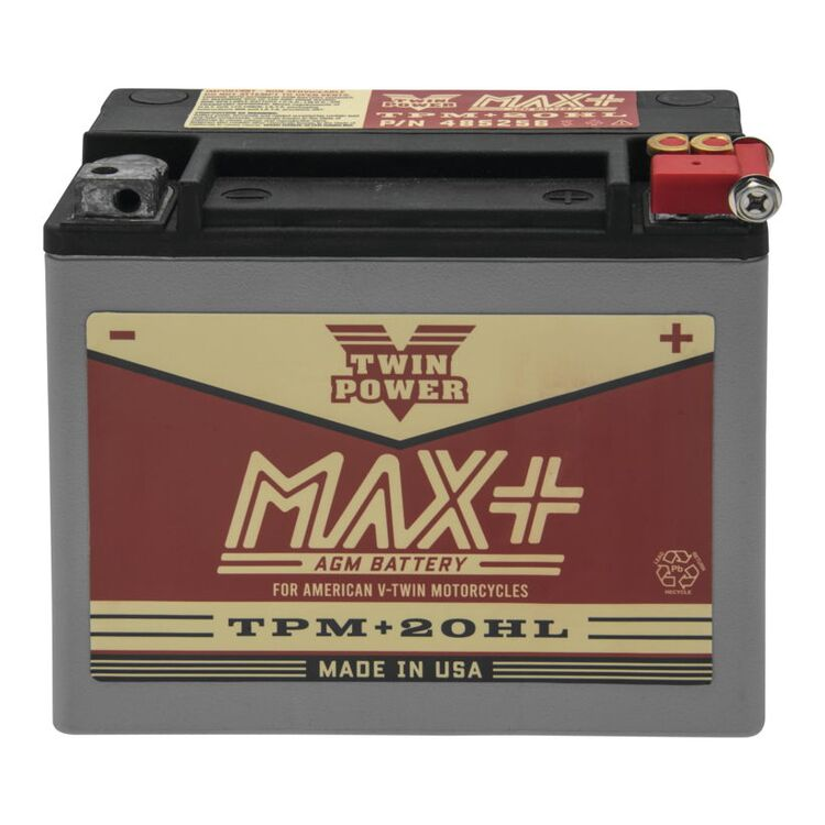 Twin Power Max+ AGM Battery For Harley Softail / Dyna / V-Rod / XL 1991-2021