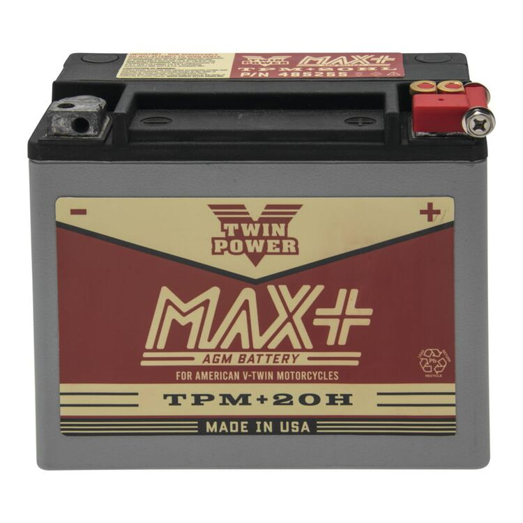 Twin Power Max+ AGM Battery For Harley Softail / FXR / FXE / XL 1974-1996